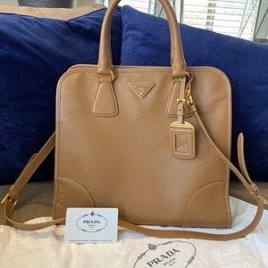 Prada Large Caramel Handle Bag